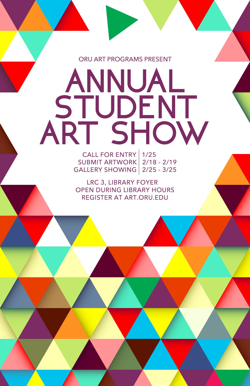 Student Art Show Poster Wyatt Bullard